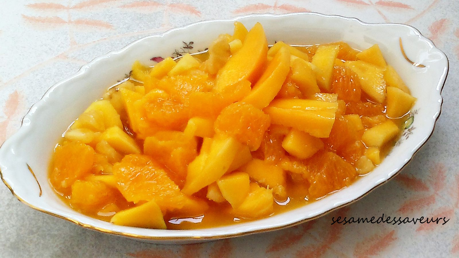Salade de mangue à l'orange