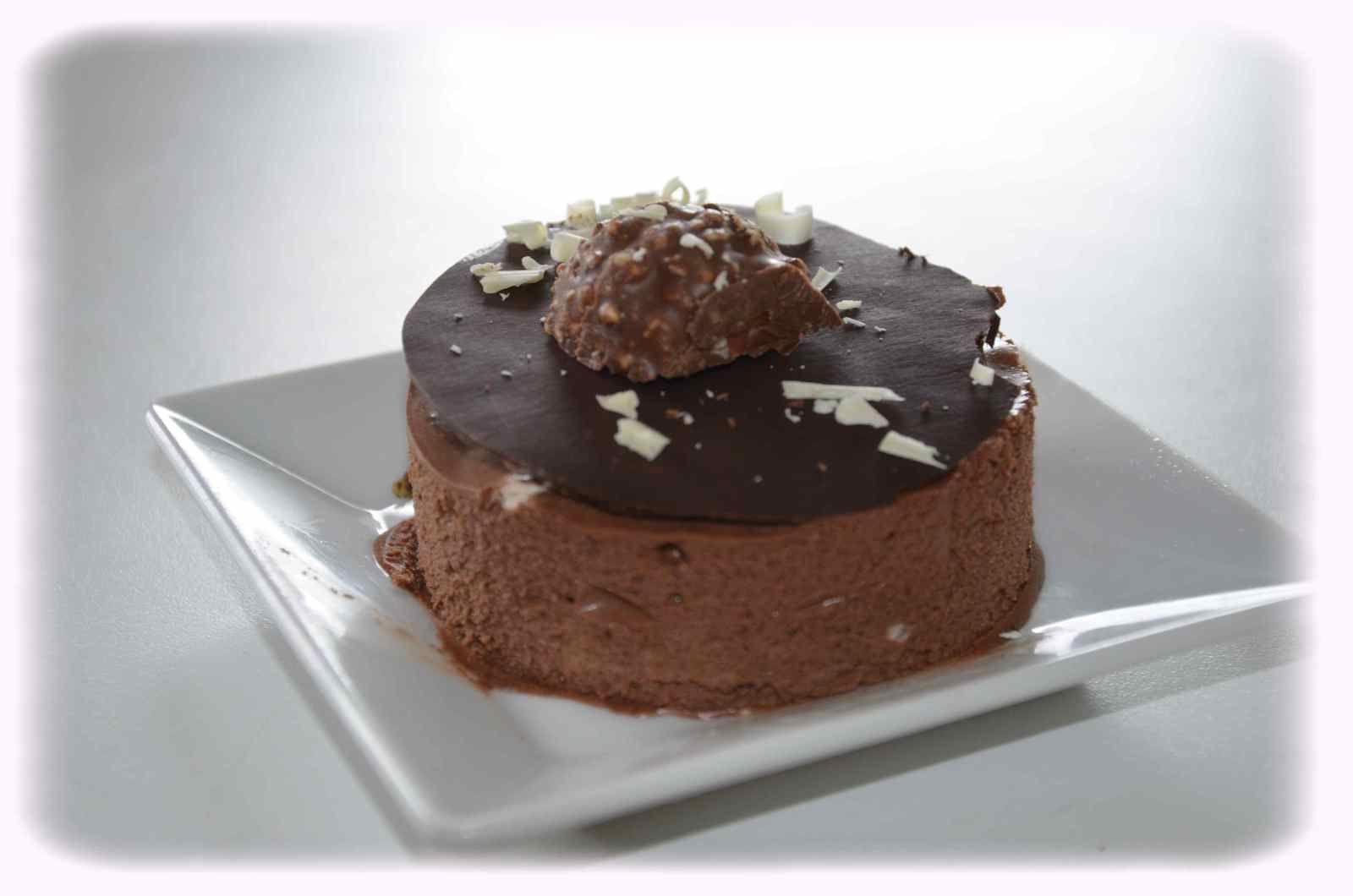 Mousse au chocolat façon Bavarois et son croquant chocolat