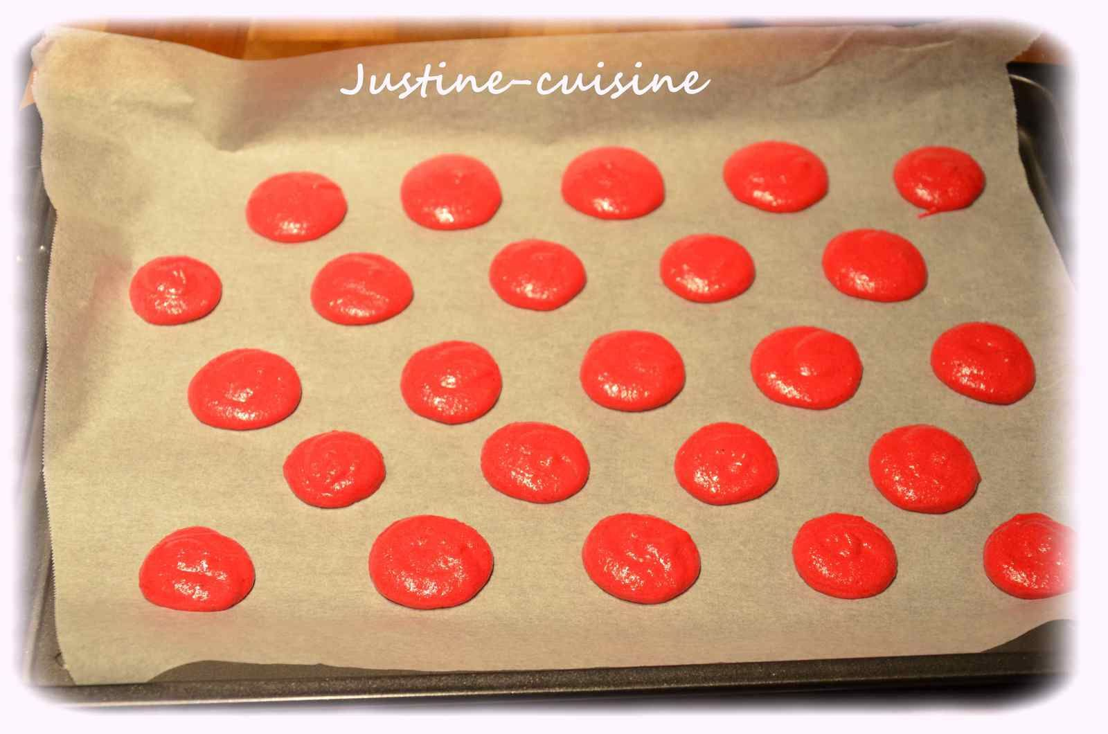 Macarons à la ganache Chocolat/framboise