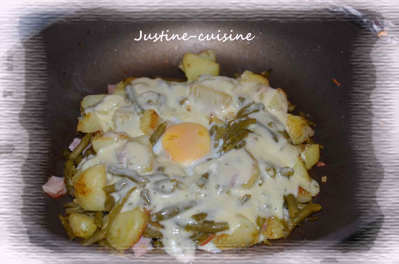 Œuf cocotte XL aux légumes et raclette