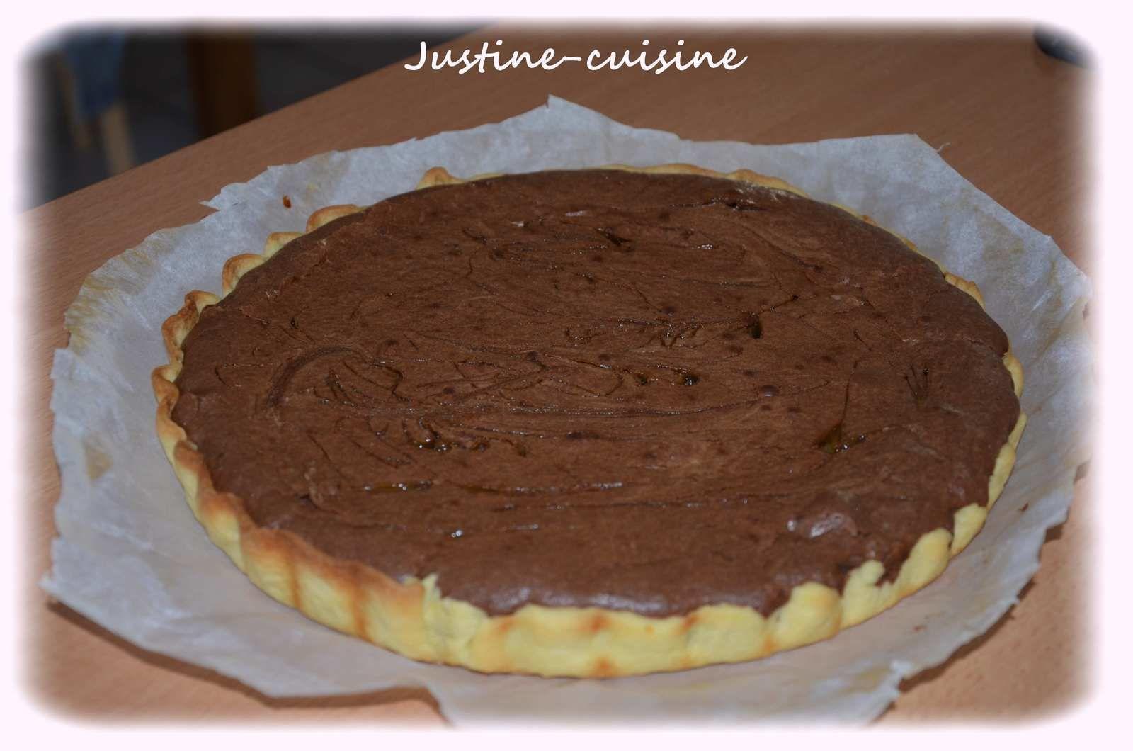 Tarte au brownie