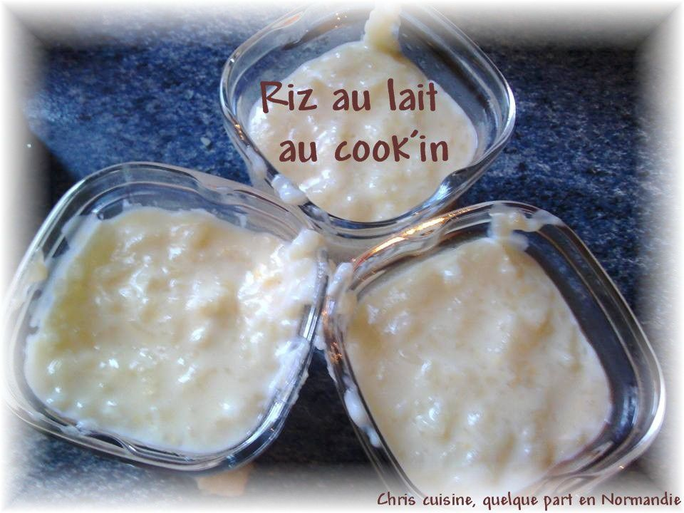 Riz au lait au cook'in