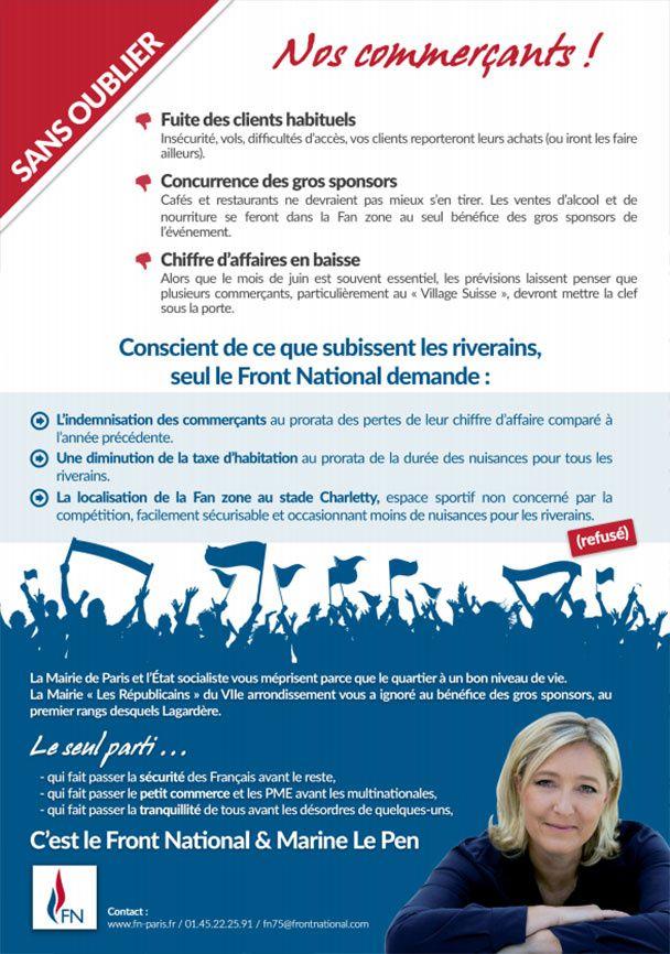 Fan Zone de Paris : le FN dénonce l'insécurité et les nuisances