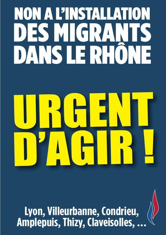 Le FN69 dit NON à l'installation d'immigrés clandestins dans le Rhône