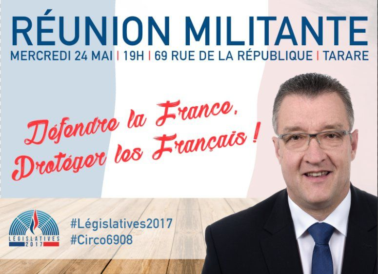 Réunion militante à Tarare autour de Pierre TERRAIL, candidat dans la 8ème circonscription du Rhône