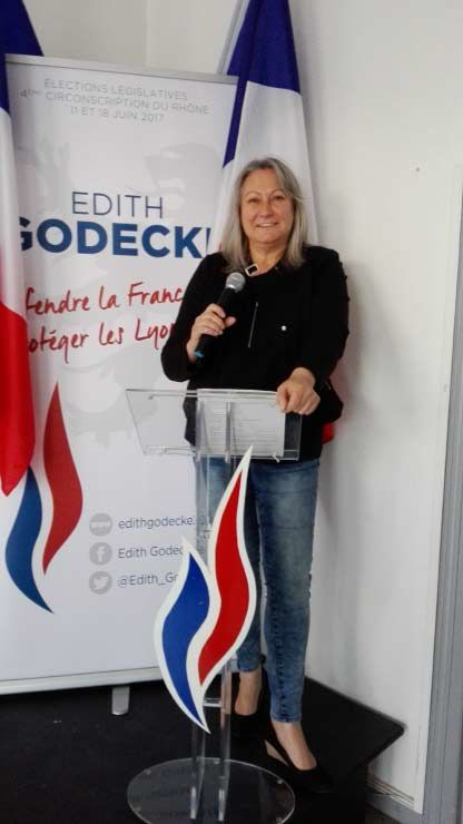 Edith GODECKE, CANDIDATE FN LEGISLATIVES 2017 / 4 ème CIRCONSCRIPTION DU RHONE
