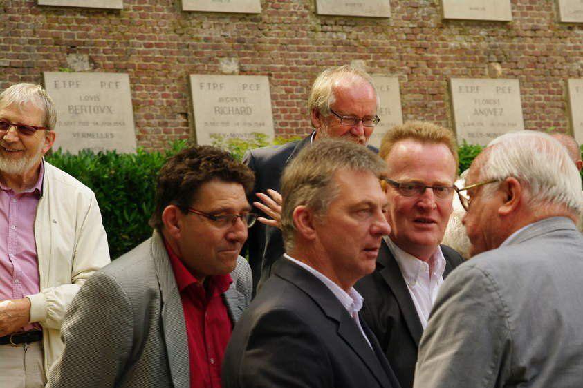 Hervé Poly à citadelle d'Arras en hommage aux résistants assassinés par les nazis