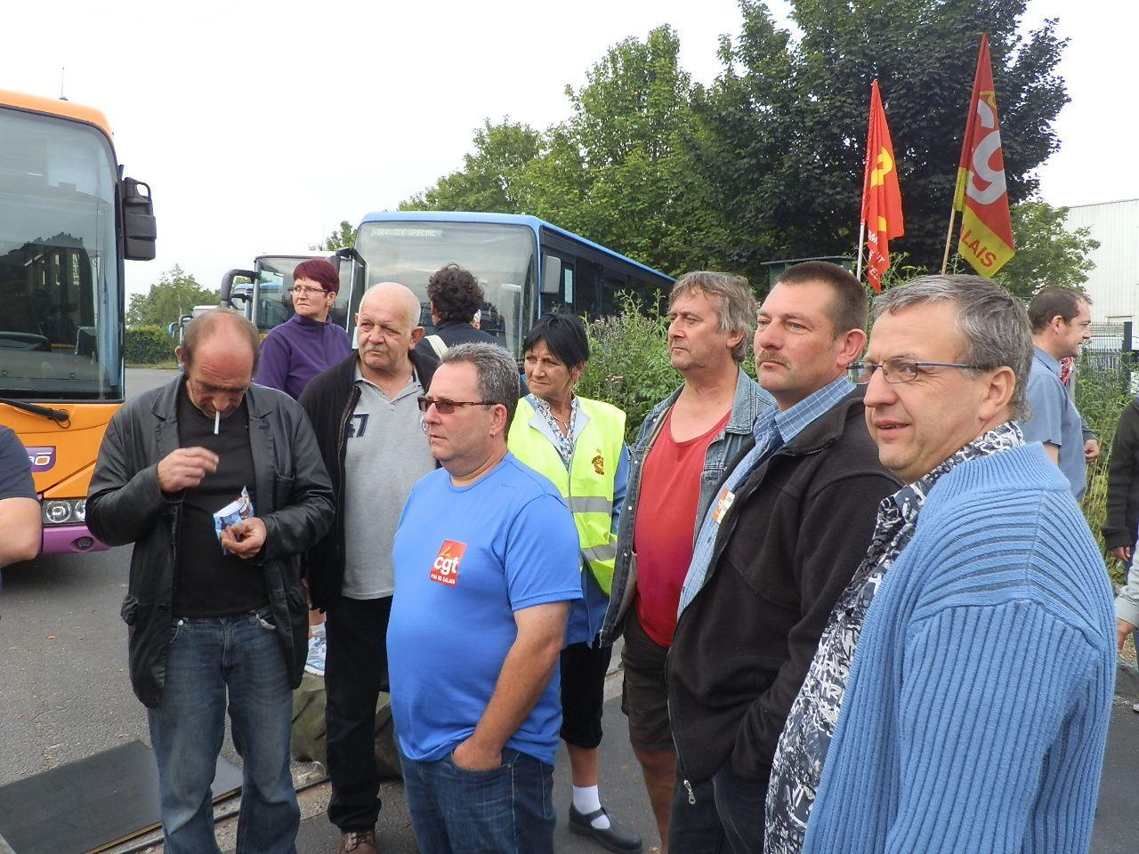 En juillet 2013, à l'initiative de l'Union de luttes CGT : manifestation devant Dourlens (groupe Keolis) à Bruay-la-Buissière