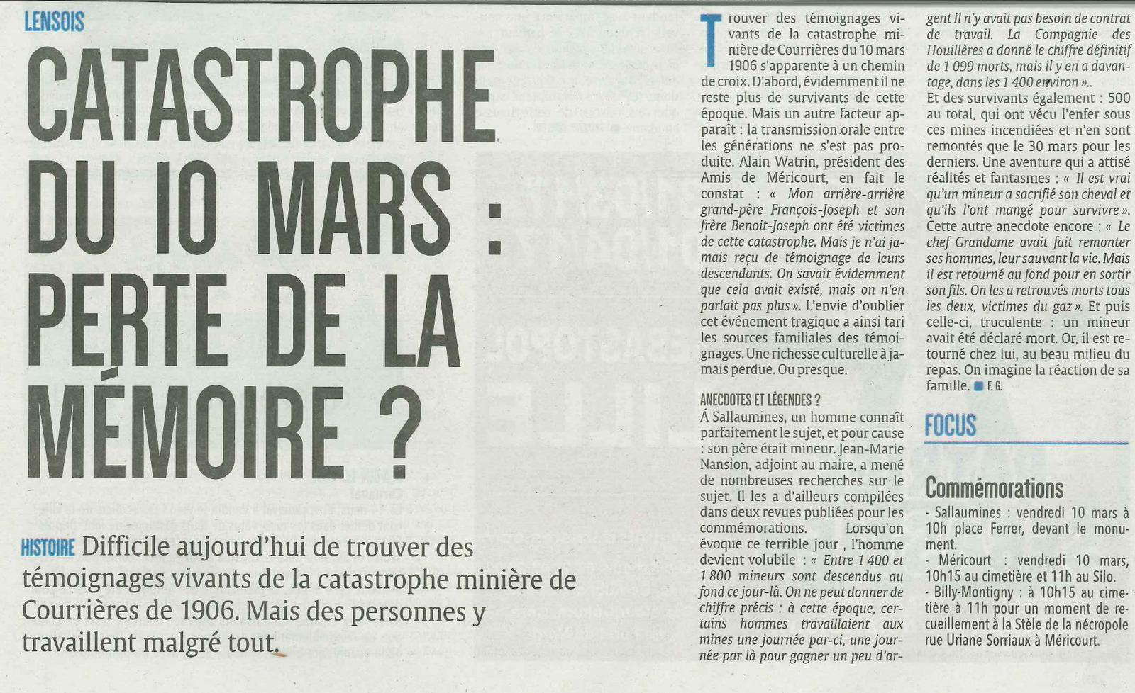 Alain Watrin président des amis de Méricourt.