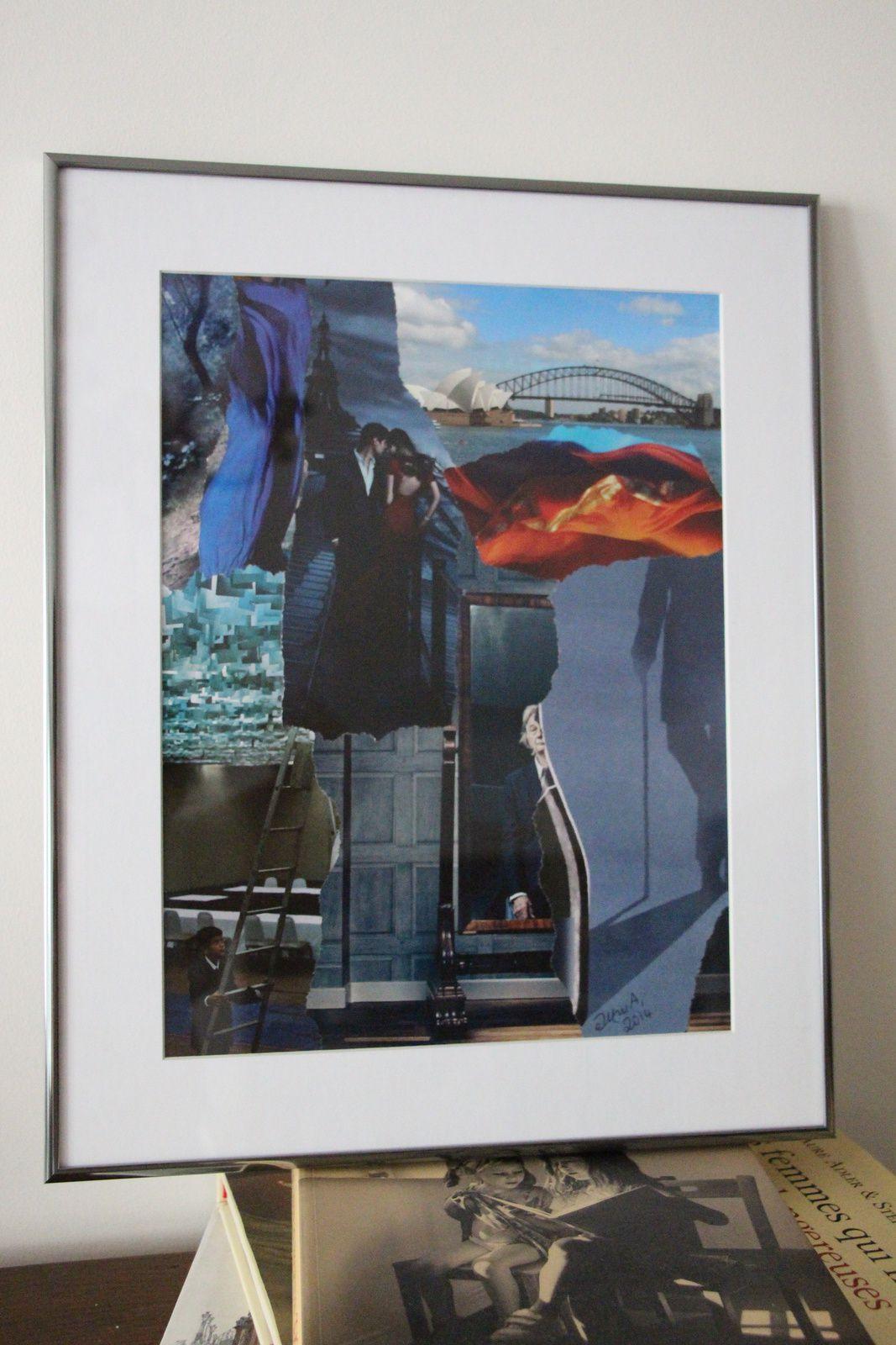 """Les Collages d'eMmA MessanA, collage """"Les trois âges"""", pièce unique"""