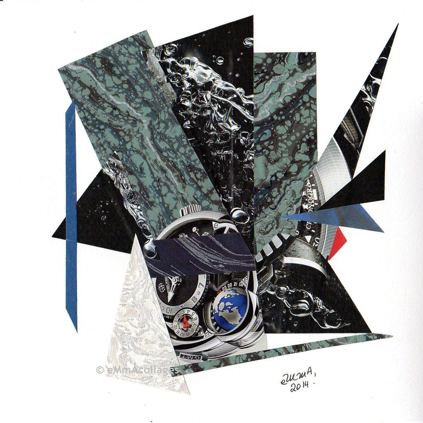 """Les Collages d'eMmA MessanA, """"Le temps des autres"""", pièce unique"""