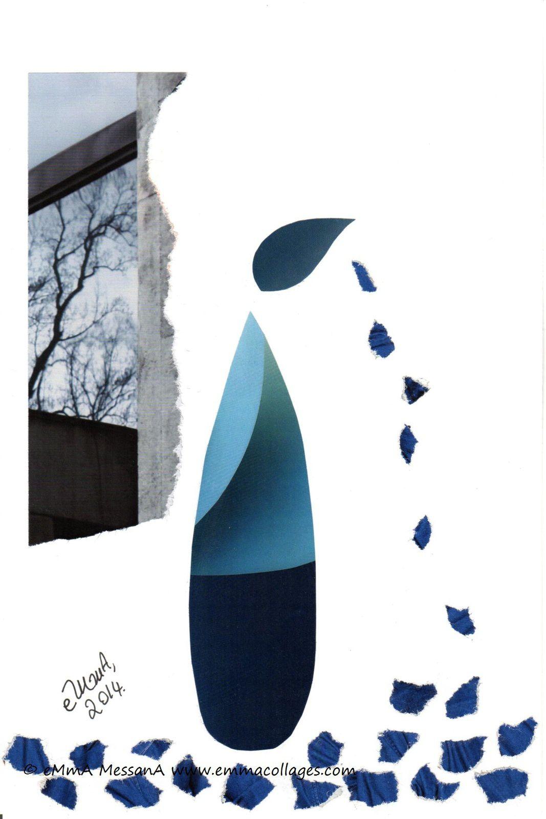 """Les Collages d'eMmA MessanA, collage """"Il y a des jours"""", pièce unique"""