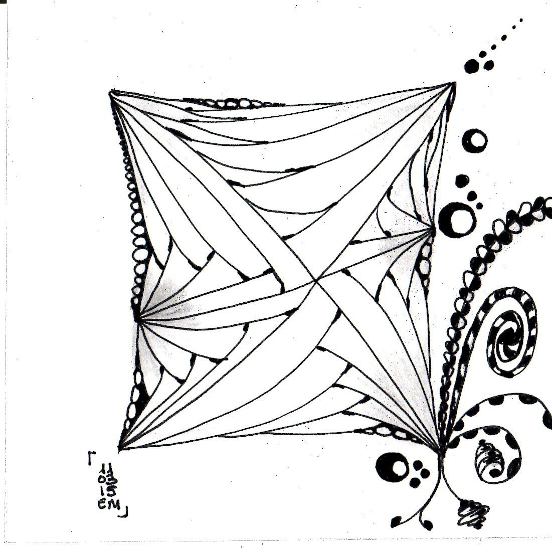 Zentangle® #7 le 11 mars 2015 emma messana