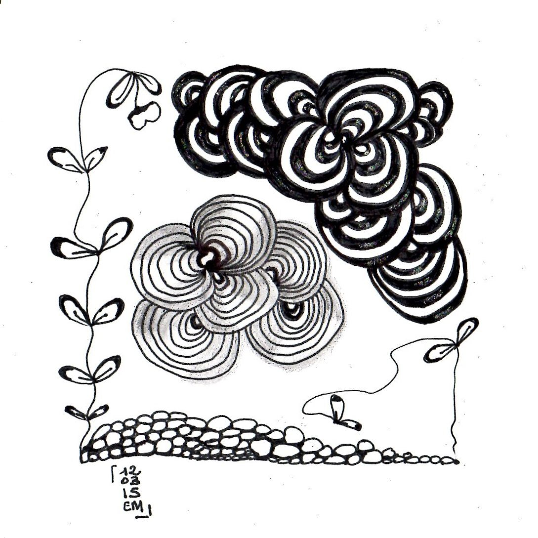 Zentangle® #8 le 12 mars 2015 emma messana