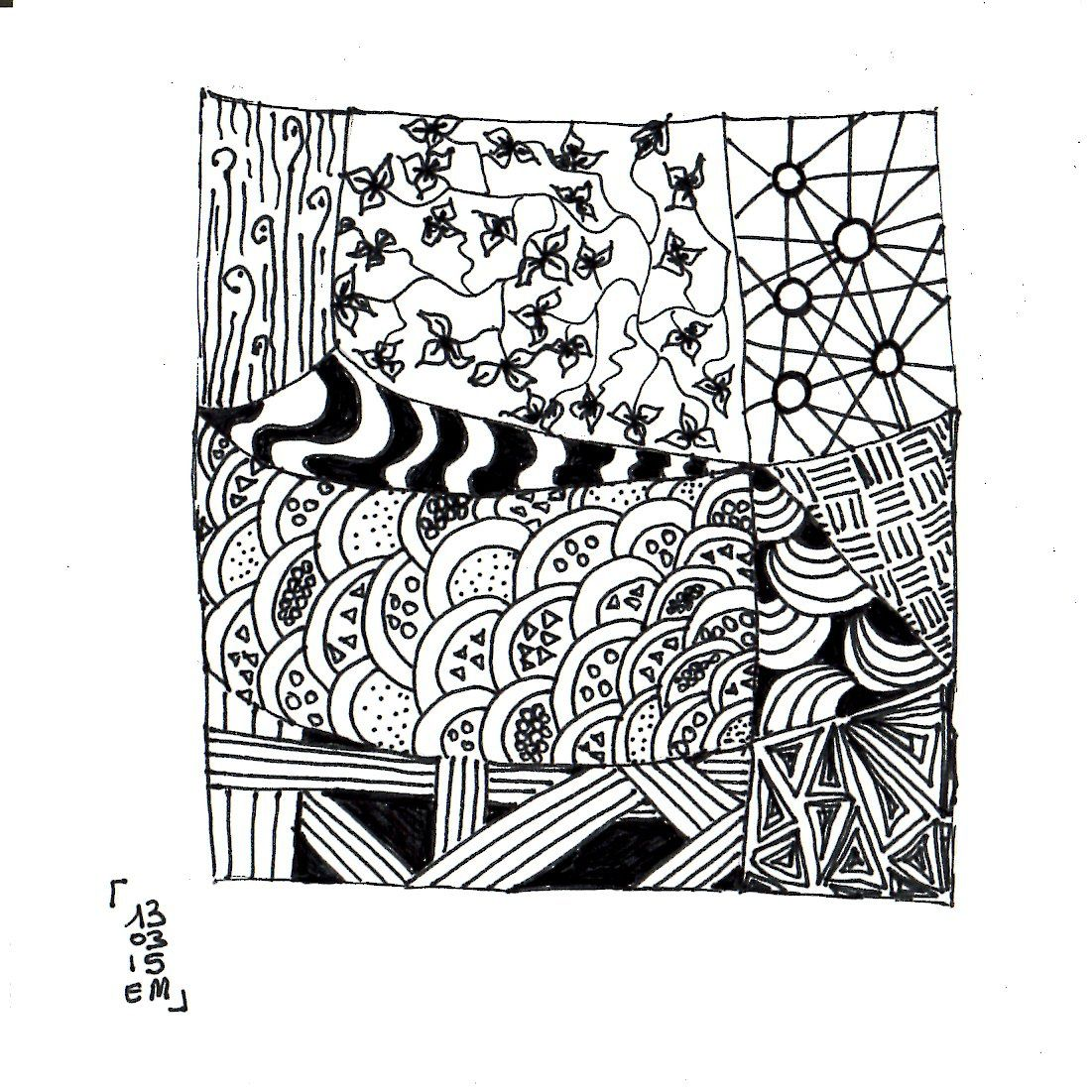 Zentangle® #9 le 13 mars 2015 emma messana