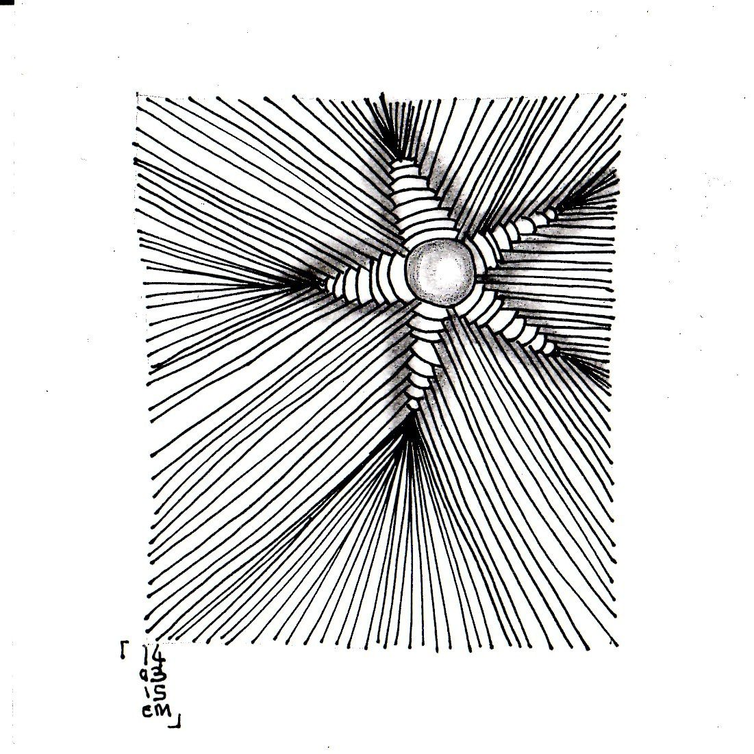 Zentangle® #10 le 14 mars 2015 emma messana