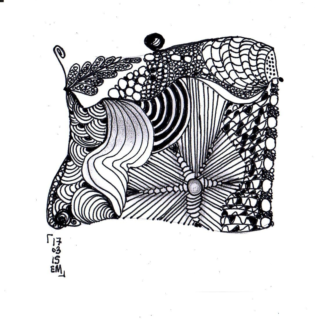 Zentangle® #13 le 17 mars 2015 emma messana