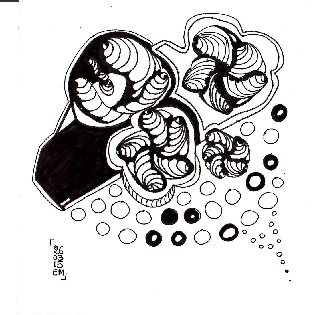 Zentangle® #18 le 26 mars 2015  © eMmA MessanA