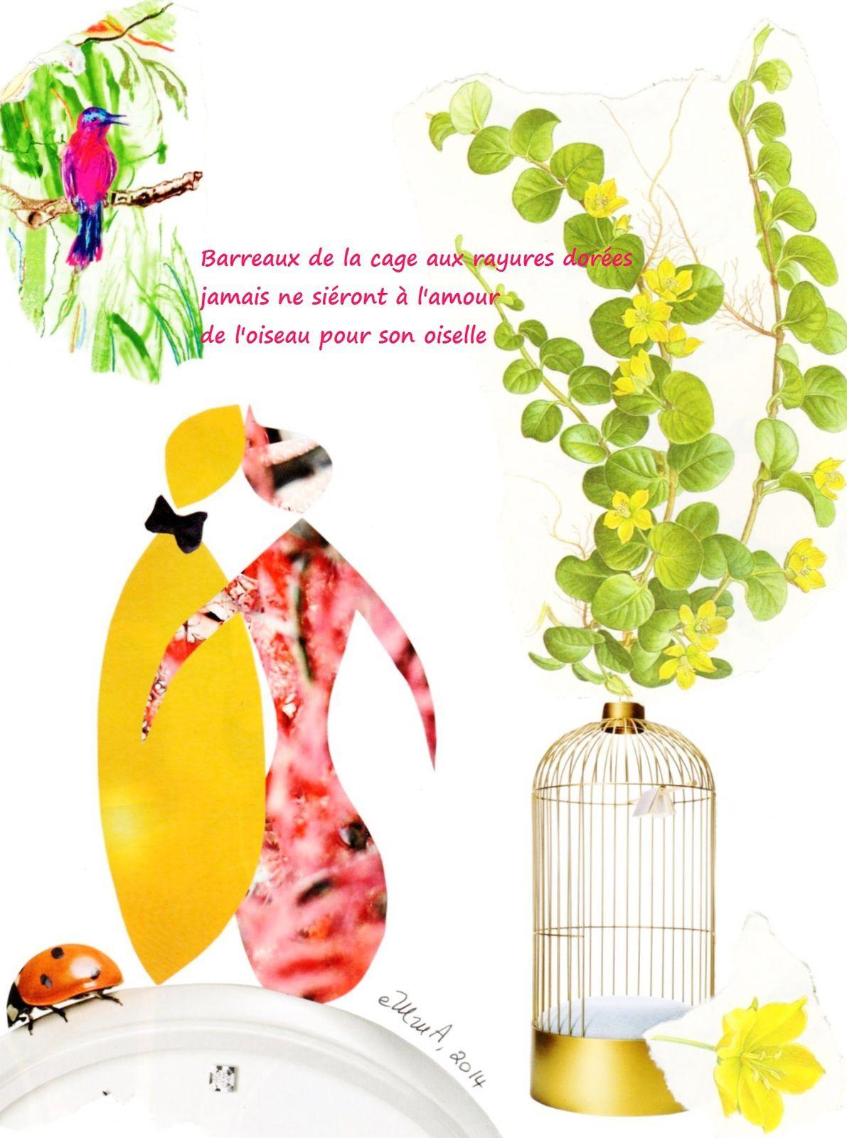 """Les Collages d'eMmA MessanA, collage """"Ça fait un bien fou !"""", pièce unique"""