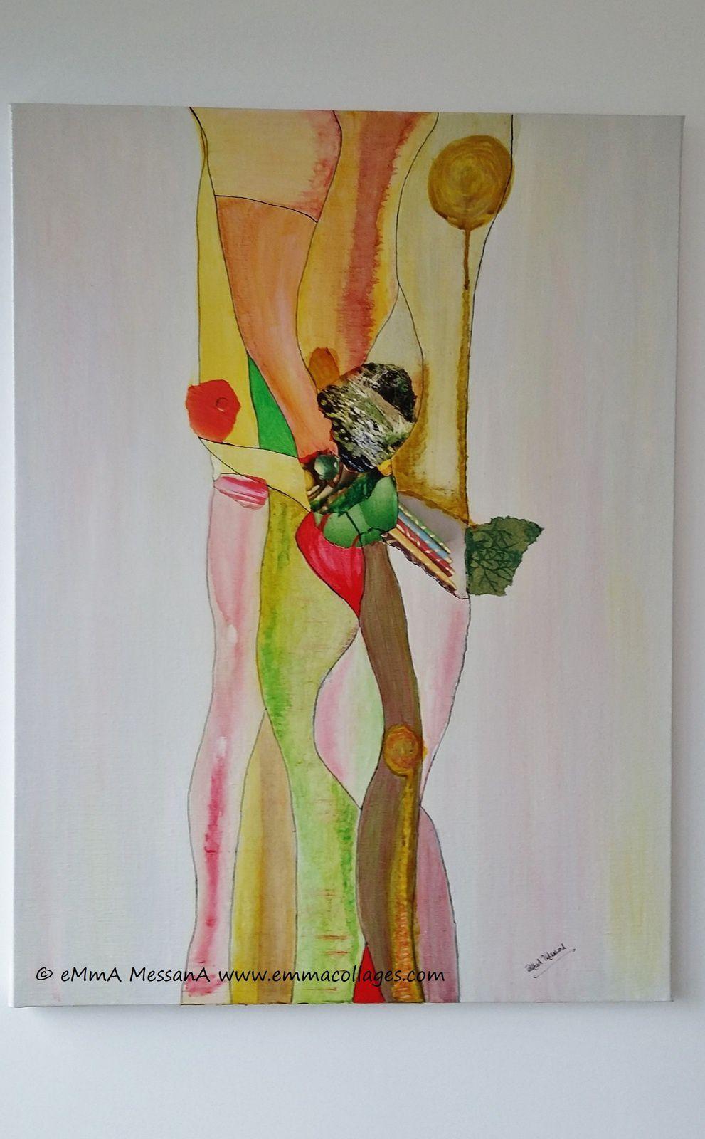 """Les collages d'eMmA MessanA, """"Motifs à danser"""", pièce unique"""