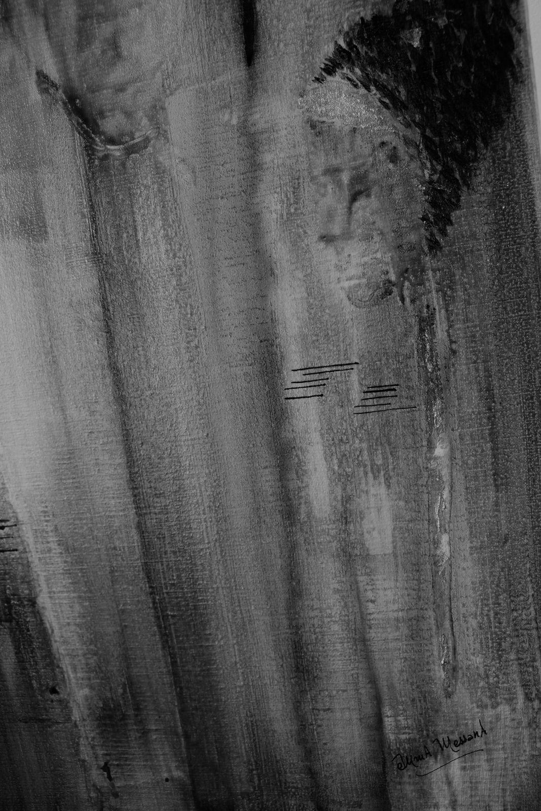 """Les Collages d'eMmA MessanA, fragment N&B du N°322 """"Regards d'eux"""""""
