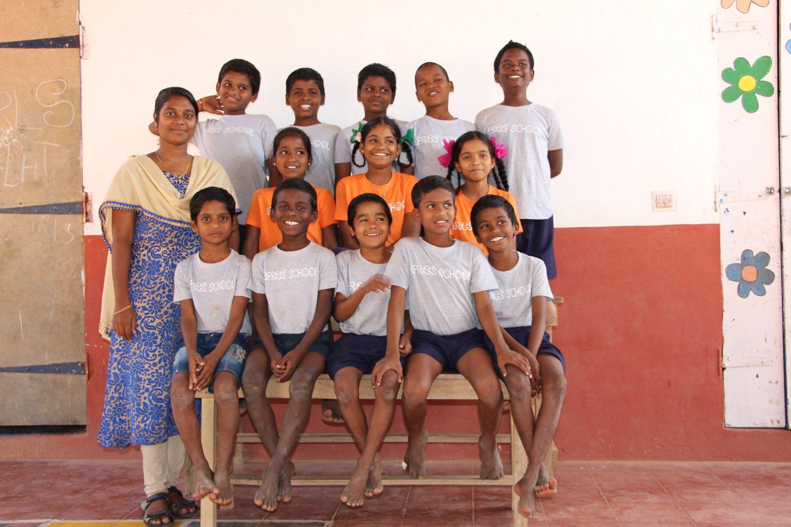 Class 4 et 5 avec Miss Jayanthis