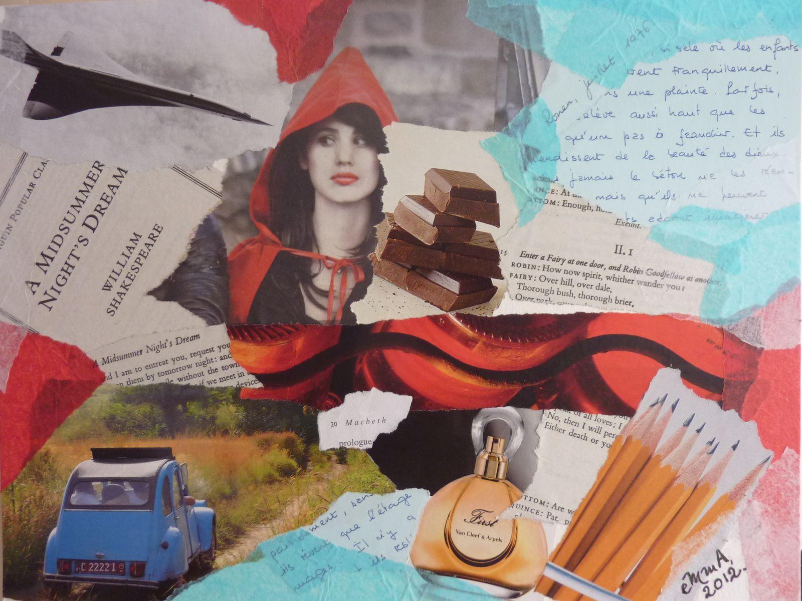 """Les Collages d'eMmA MessanA, collage """"1976, être ou ne pas être prof d'anglais ?"""", pièce unique"""