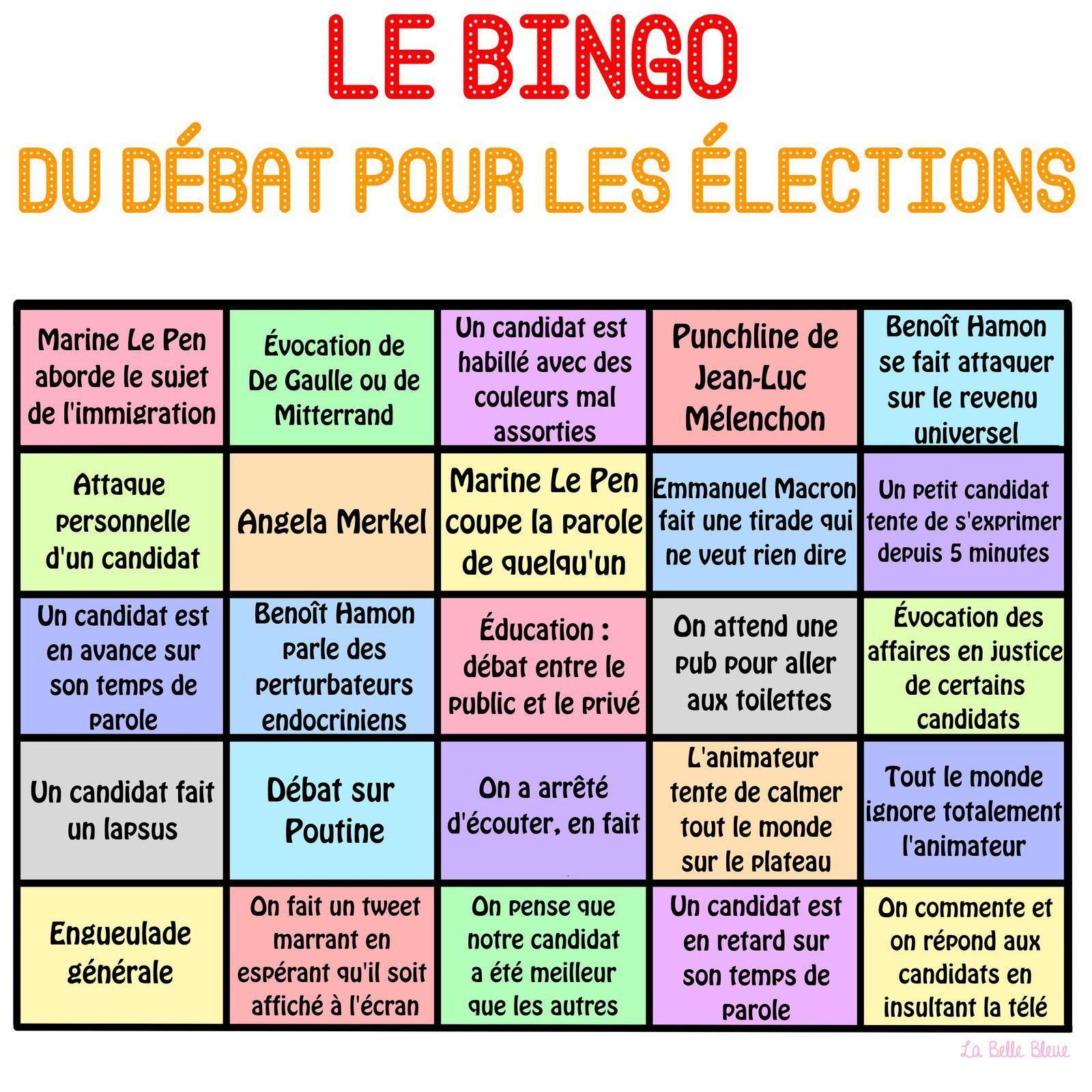 Le bingo du débat politique