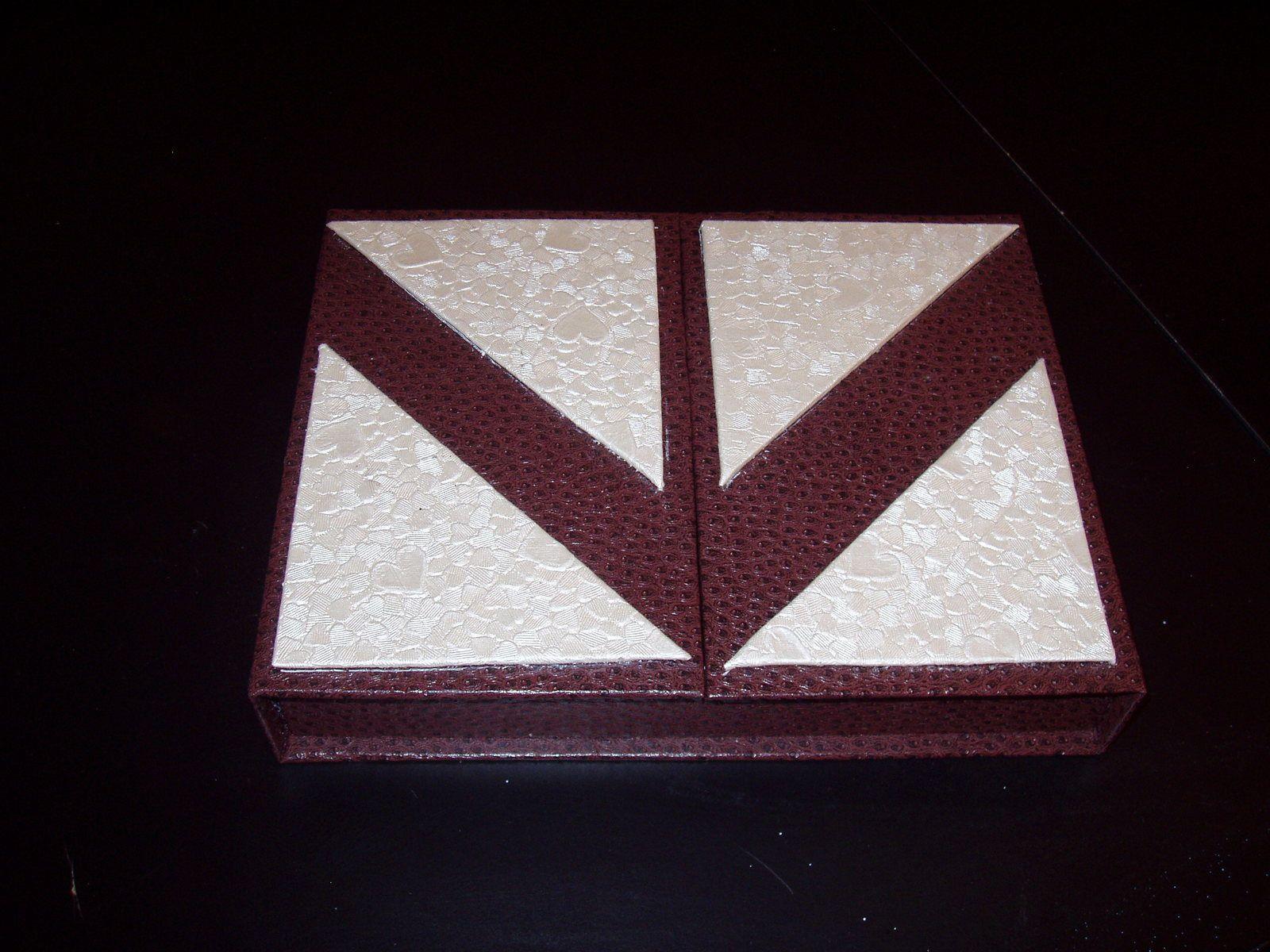 Cours de cartonnage : une boite-écrin
