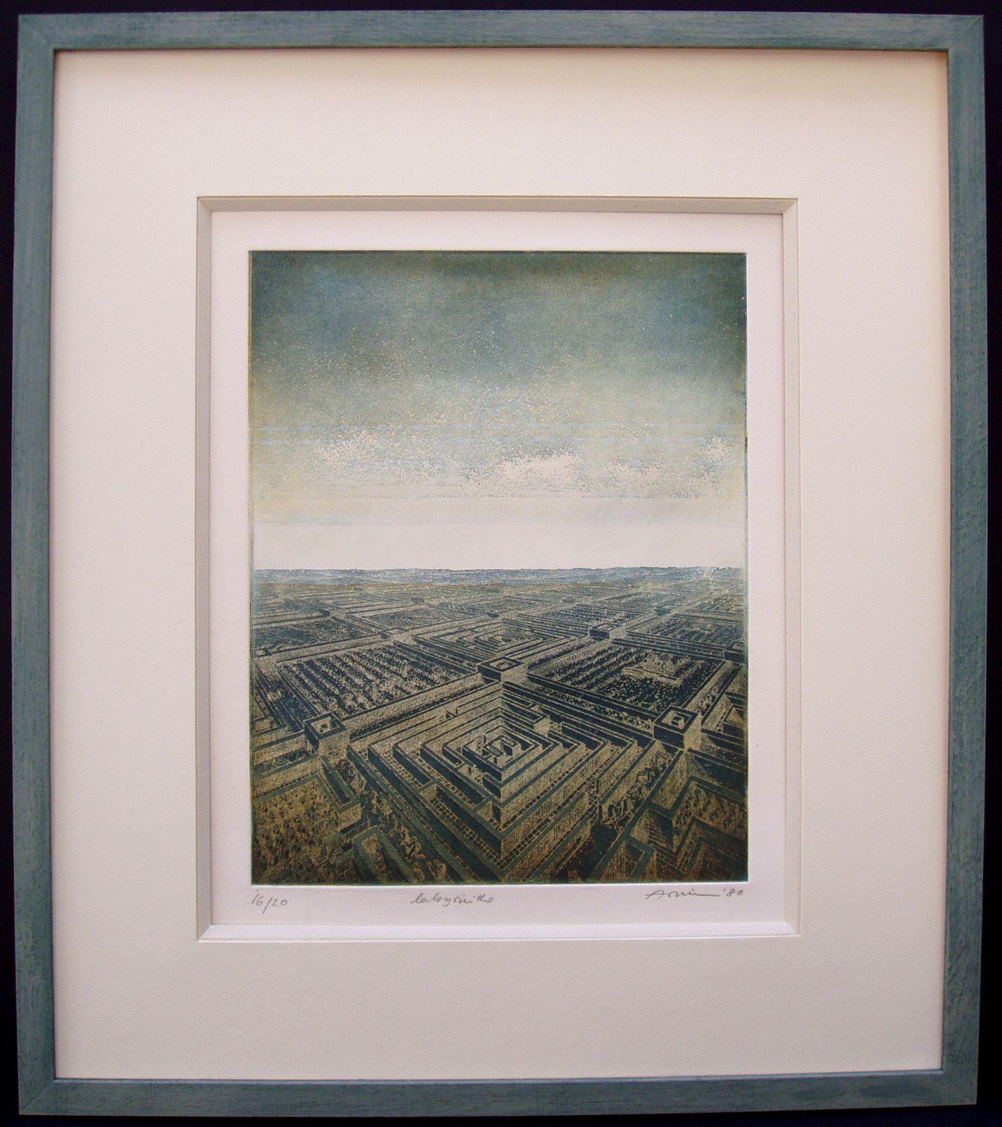 Christiane P. : Du blanc... et un cadre en bois, aquarellé couleur de ciel