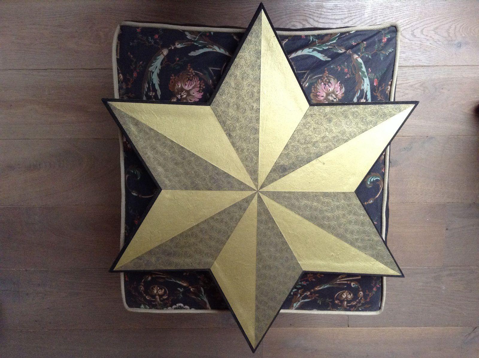 Cours de cartonnage : cartonnage de Noël, étoiles ...