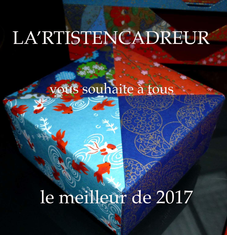 Cours de cartonnage et d'encadrement : Bonne année...