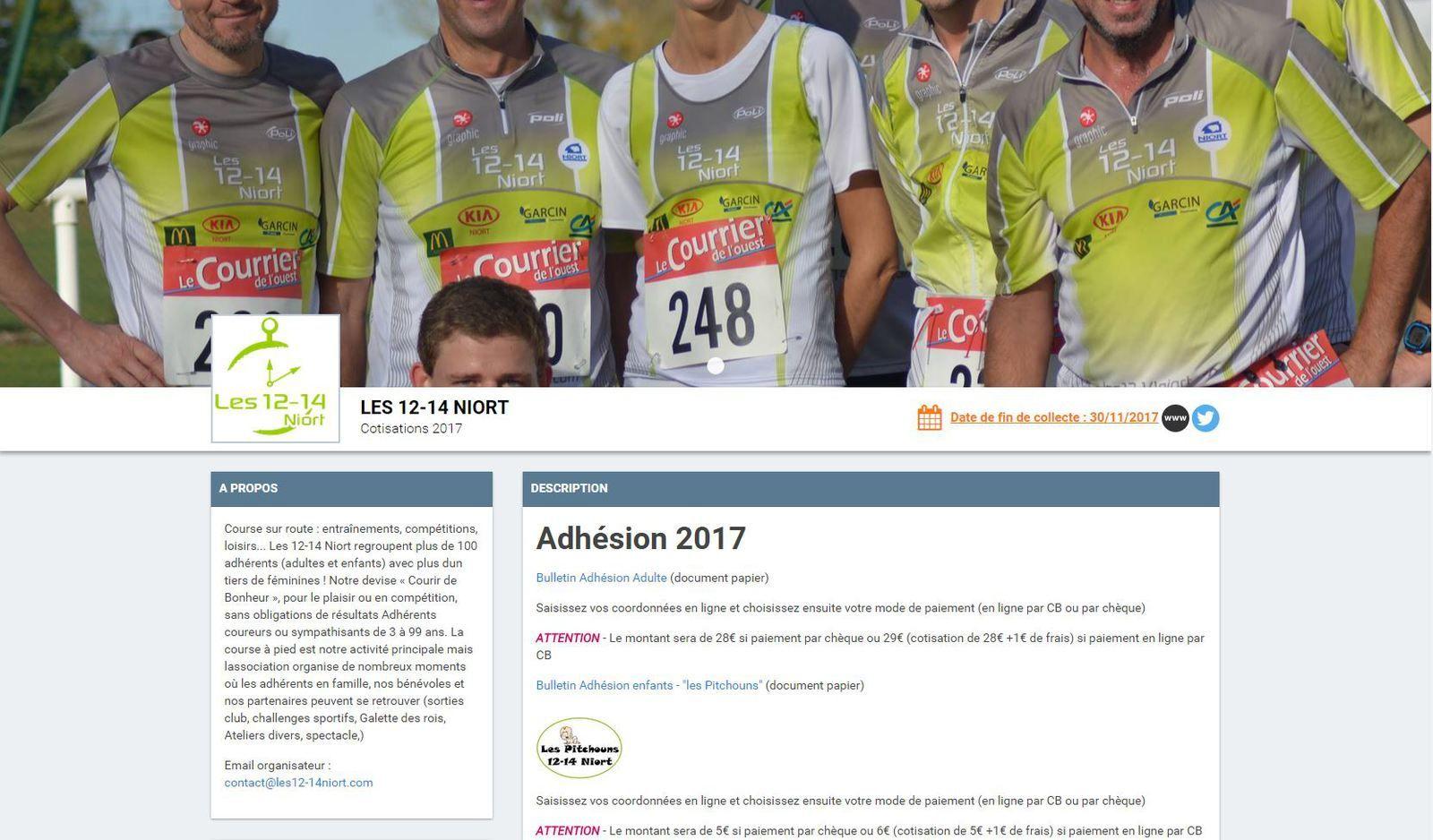 Adhérents 12-14 2017 : point sur nos effectifs !