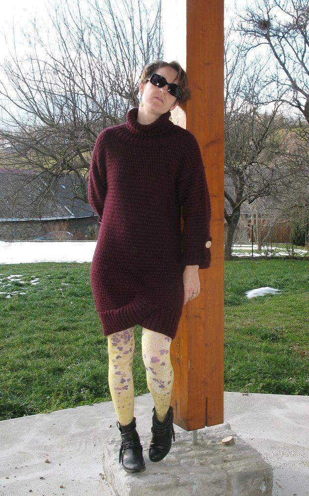 Robe en laine, ou un travail au long court...