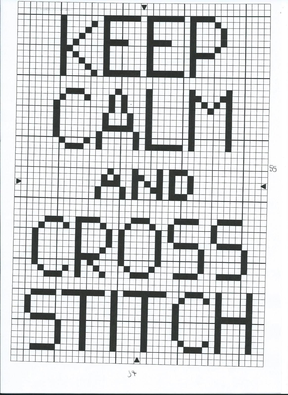 Grille gratuite &quot&#x3B;Keep calm and cross stitch&quot&#x3B;