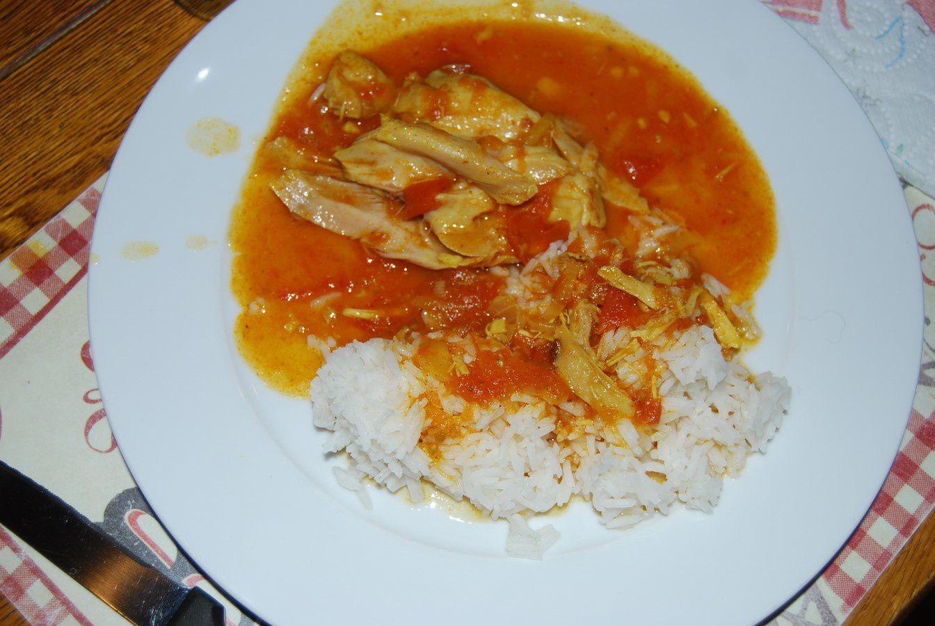 Ragout de poulet d'inspiration ivoirienne....