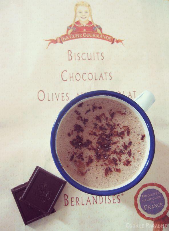 Chocolat chaud aux éclats d'amandes ♥ ma cure gourmande