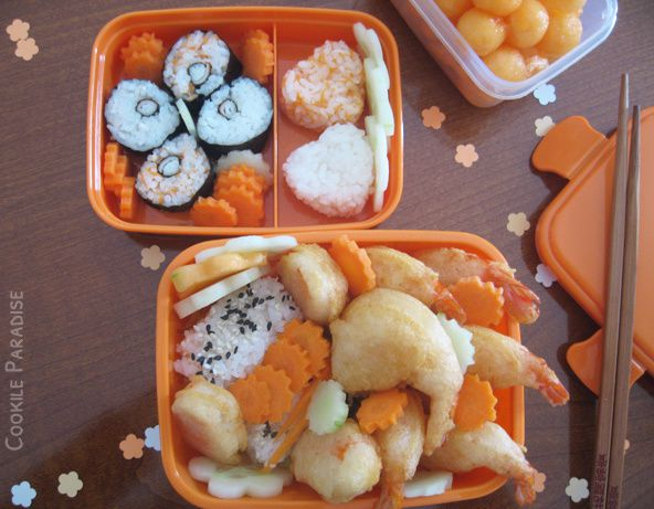 Bento orange vitaminé ♥