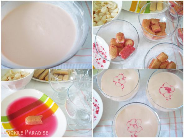 Tiramisu à la rose-litchi &amp&#x3B; voile de meringue