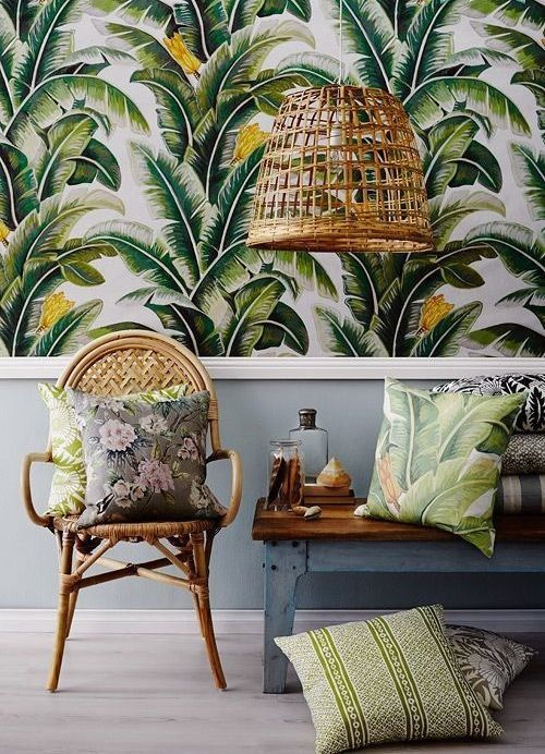 Inspiration décor jungle tropicale - Pinterest