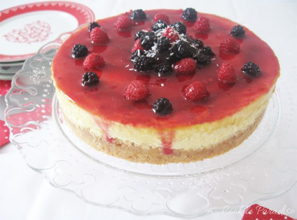 Cheesecake à la vanille & son coulis de fruits rouges