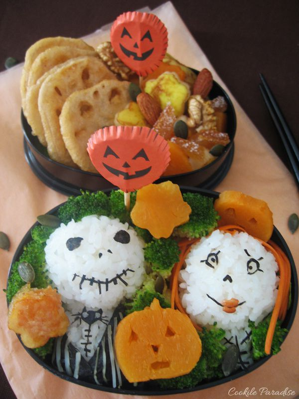 Bento d'halloween - Mr Jack Skellington & Sally sa copine
