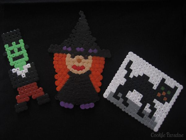 Halloween Mummy, Jack'O Lantern, monsters &amp&#x3B; cie ♥ Cute food et DIY en perles hama