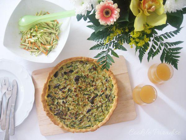 Rustique &amp&#x3B; réconfortante... ma tarte aux poireaux-champignons