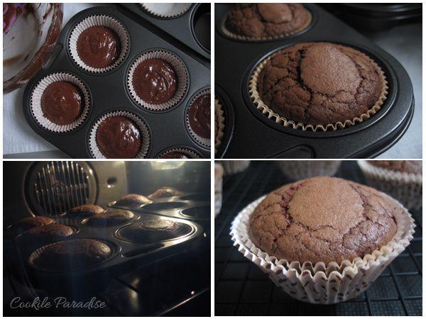 Cupcakes chocolat-coco-chantilly à la façon Brownies