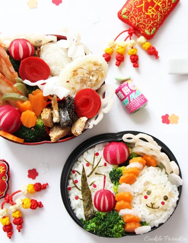 Mon Bento spécial pour le nouvel an chinois 2015