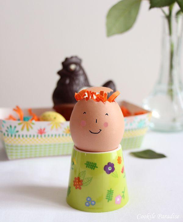 Œuf à la coque bio à la fleur de sel de Camargue &amp&#x3B; basilic et ces mouillettes de baguette croustillante ♥  un petit déjeuner pour Pâques