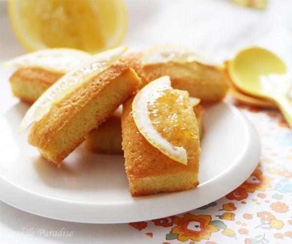 Mes petits financiers au citron-safran & thé vert bio au citron