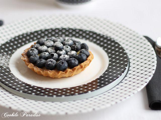 Tartelettes aux myrtilles &amp&#x3B; à la crème pâtissière vanillée