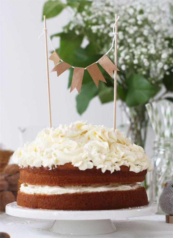 Sponge  cake coco pour un tea time festif d'inspiration Kinfolk